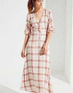 Urban Outfitters plaid Button-through maxi Dress